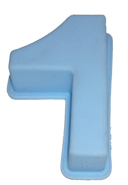 Reich Piedra & Kaufmann Molde de Silicona Número Cumpleaños Aniversario, Silicona, Azul Claro, 1: Amazon.es: Hogar