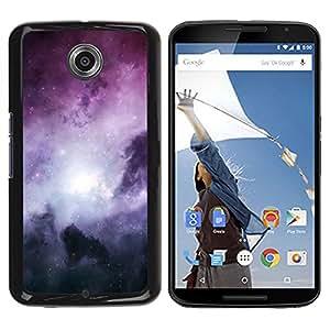 YiPhone /// Prima de resorte delgada de la cubierta del caso de Shell Armor - Space Planet Galaxy Stars 62 - Motorola NEXUS 6 / X / Moto X Pro
