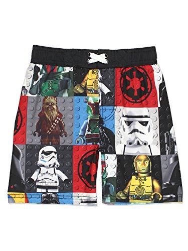 LEGO Star Wars Boys Swim Trunks Swimwear (5-6, Black/Multi)