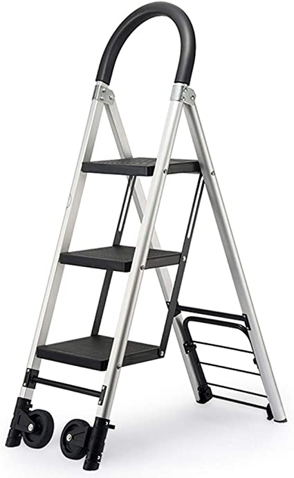 Escaleras de tijera Escalera plegable de aluminio de 4 escalones, escalera pesada y resistente, escalera portátil ligera Escalera negra Escalera plegable: Amazon.es: Bricolaje y herramientas