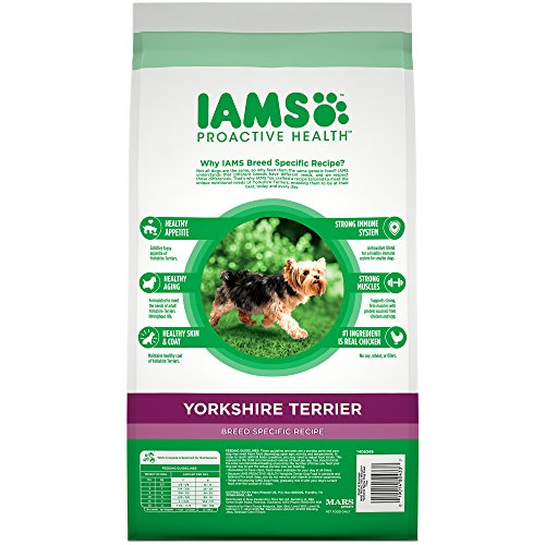 Iams Proactive Health Adult Yorkshire Terrier Dry Dog Food, Chicken Flavor, 7 Pound Bag by Iams (Image #1)