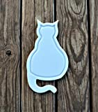 NEW Cat Kitten Shaped White Plastic HDPE Cutting Board 12x7 Animal Lovers Dishwasher Safe FAST SHIPPING!