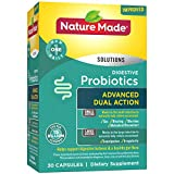 Nature Made Digestive Probiotics Advanced Dual Action Capsules, 15 Billion CFU per Serving, 30 Count for Digestive Balance† (Packaging May Vary)