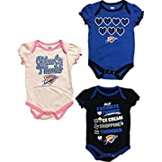Oklahoma City Thunder Newborn Infants Home Alternate Pink 3 Piece Creeper Set (3/6 Months)