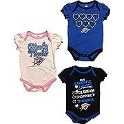 Oklahoma City Thunder Newborn Infants Home Alternate Pink 3 Piece Creeper Set (6/9 Months)
