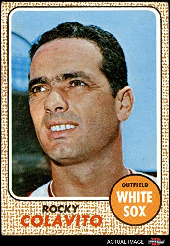 1968 Topps # 99 A Rocky Colavito Chicago White Sox (Baseball Card) (Back is Gold in Color) Dean's Cards 4 - VG/EX White Sox