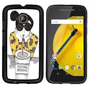 Dragon Case - FOR Motorola Moto G 2nd Generation - Don't try so hard - Caja protectora de pl??stico duro de la cubierta Dise?¡Ào Slim Fit
