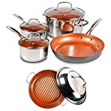Nuwave Duralon Ceramic Non-Stick 7-Piece Cookware Set w/ BBQ Grill Pan