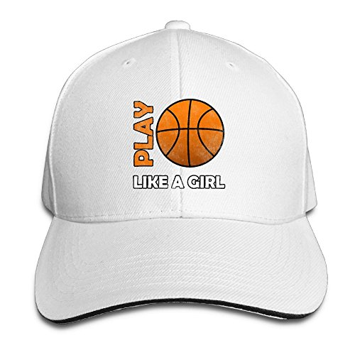 Distressed Basketball Play Like A Girl Unisex Fashion Adjustable Baseball Caps Classic Dad Hats