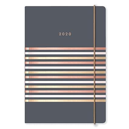 Matilda Myres 2020 Tri-Foil Stripes - Agenda semanal (tamaño A5), color gris A5