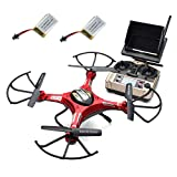 Mchoice JJRC H8D RC Quadcopter Drone 5.8G FPV HD Camera+Monitor+2 Battery Xmas Gift