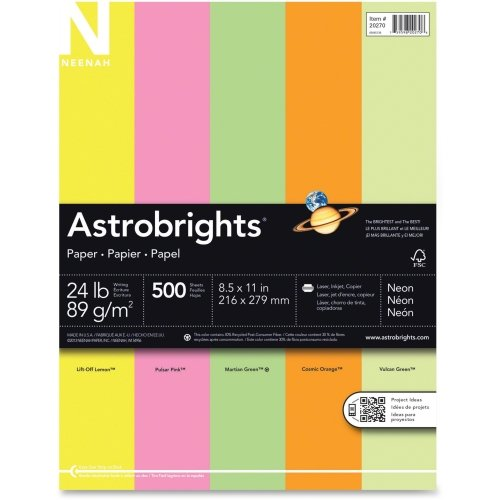 Astrobright Pink Letter Inkjet Paper (Wausau Paper Astrobrights Colored Paper - For Laser, Inkjet Print - Letter - 8.50