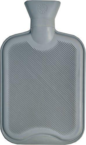 Vagabond Bags Gerippter Wärmflasche, 2Liter, Grau