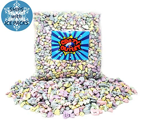 CrazyOutlet Pack - Chocolate Rocks Shimmer Candy, Milk Chocolate Wedding Pastel Sparkle Candy Mix, Bulk Pack, 2 Lbs