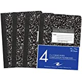 "Roaring Spring Hard Cover Composition Book, 9 3/4"" x 7 1/2"", 5x5 Graph Ruled, 80 sheets 4/pk"