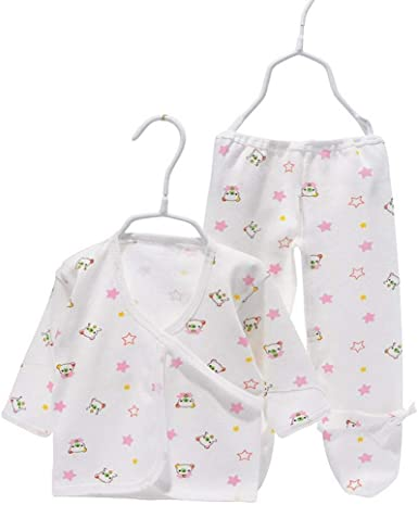 Wunked Recién Nacido Pijama Bebés Algodón Niñas Niños Peleles Sleepsuit 2 Piezas Cute bebé Pelele 0 – 3 Meses (Rosa): Amazon.es: Ropa y accesorios