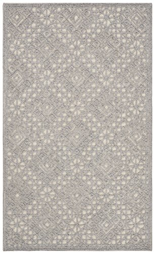 Safavieh Trace Collection Grey Premium Wool Area Rug, 2 3 x 4 ,