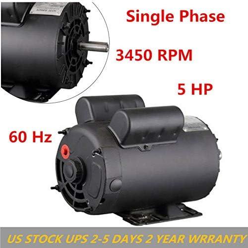 Century # B386 5 HP SPL 3450 RPM R56HZ Frame 208-230V Air Compressor Motor