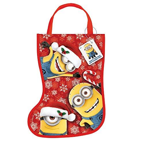 Plastic Despicable Me Minions Christmas Stocking Favor Bag (Minions Party Ideas)