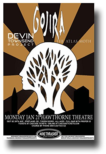 Gojira Poster - Band 11 x 17 Concert Promo on the