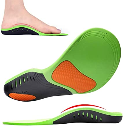 Womdee Memory Foam Orthotic Inserts Memory Foam Inserts for Shoes Padding Inserts with Arch Support Shock Absorption Metatarsal Pad Stoma for Men and Women,Cuttable Size,Breathable