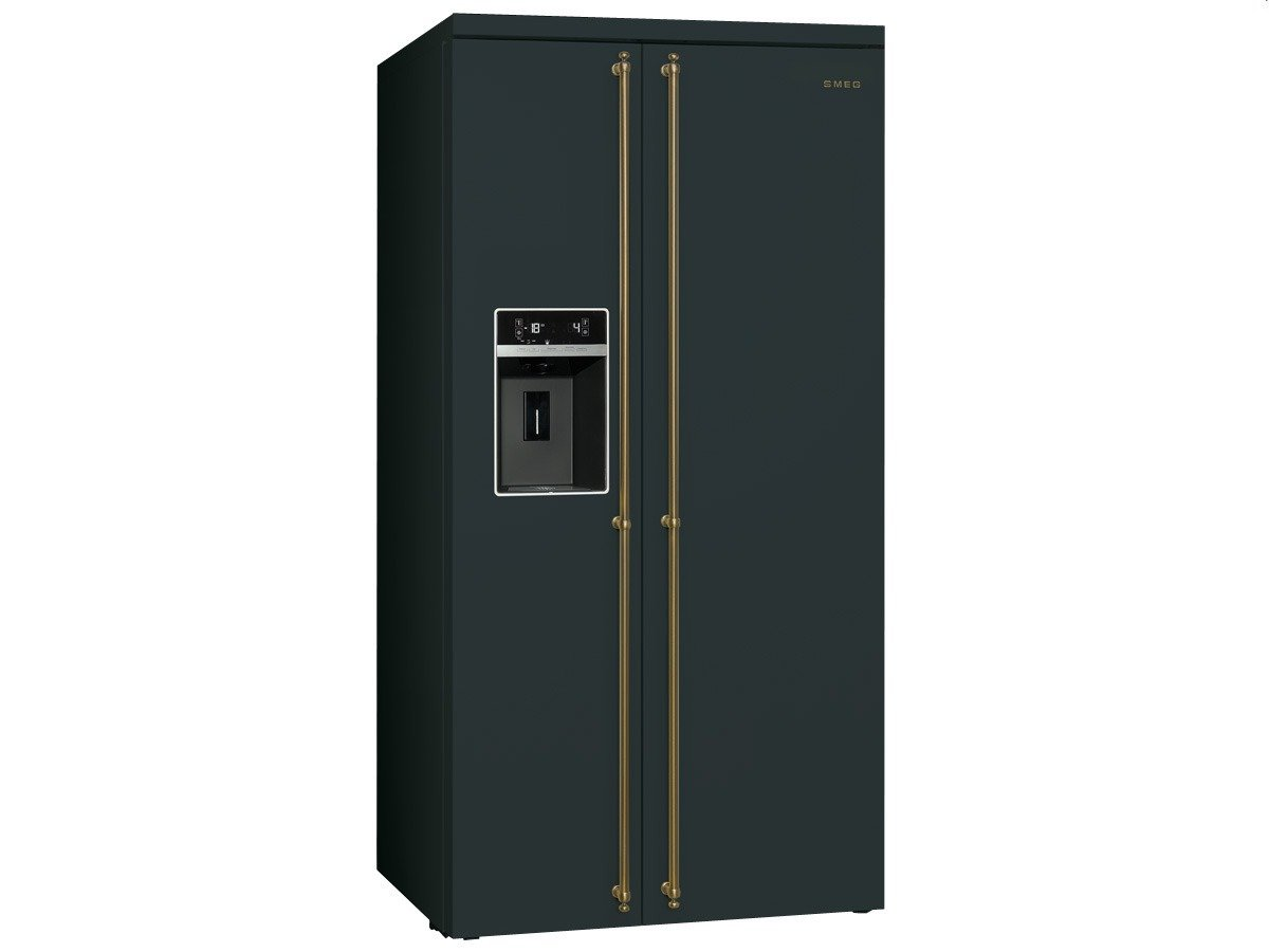 Smeg Kühlschrank No Frost : Smeg sbs ao side by side kühl gefrier kombination anthrazit