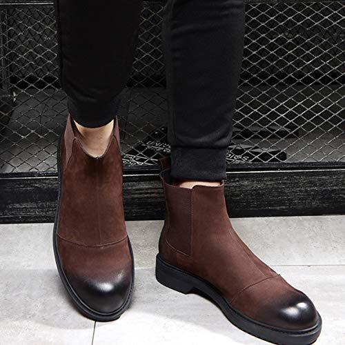 Stivaletti Vintage Compleanno Da Brown Scarpe Stivaletti Da Chelsea Stivaletti Alti Scarponi Uomo Desert Di Calzature Con In Lavoro Pelle Boots Regalo IwHHx7dR