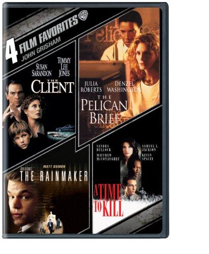 4 Film Favorites: John Grisham (The Client, The Pelican Brief, John Grisham'S The Rainmaker, A Time to Kill)
