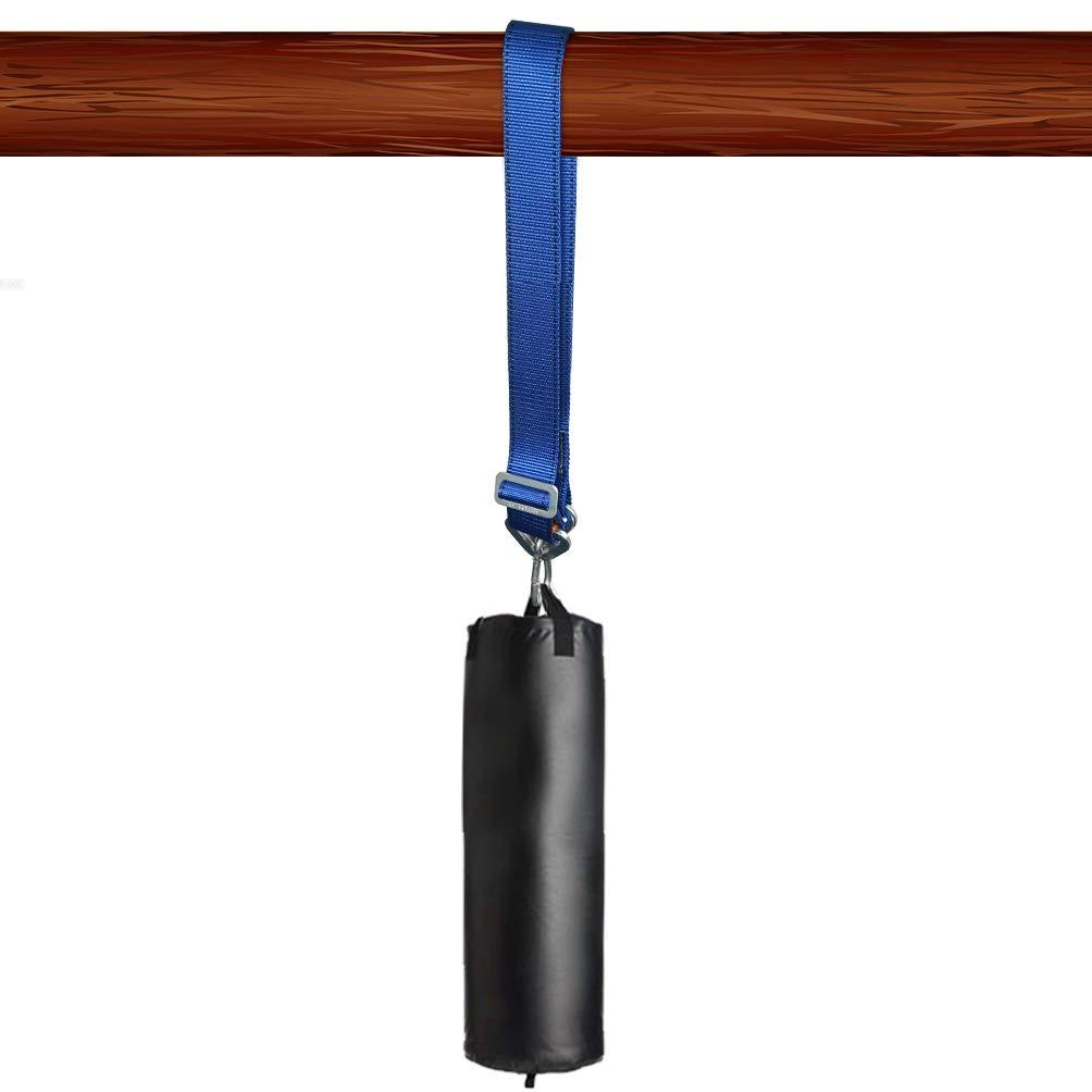 100 cm Correa de Nylon Cadena de Saco de Boxeo Correa Ajustable con Gancho Mosquet/ón para Colgar Accesorios para Sacos Soporte de Techo Pared Aoneky Colgador de Saco de Boxeo