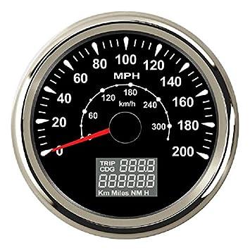 ELING Kit de velocímetro GPS de 0 - 200 MPH Odómetro Trip Meterfor Car Racing motocicleta 85 mm con luz de fondo: Amazon.es: Coche y moto
