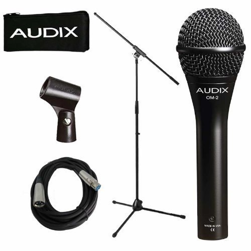 Audix OM-2 Dynamic Vocal Microphone OM2 Instrument With Stand and Cable by Audix