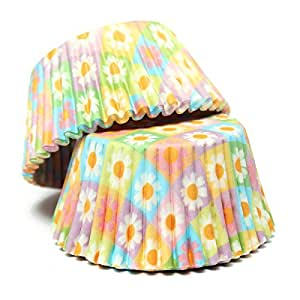 100pcs Colorful Baking Cup for Cupcake and Muffin - Fresh flower pattern