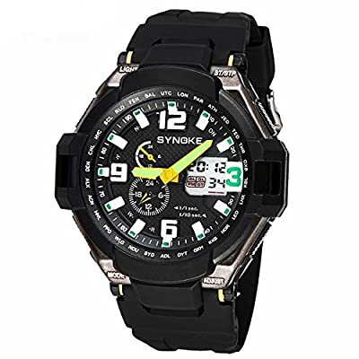 Auspicious beginning Men's Outdoor Sport Swimming Luminous Waterproof Watch