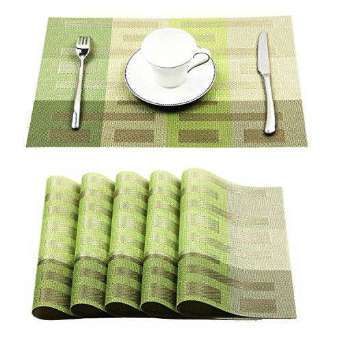 table placemats green - 3