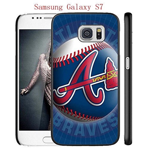 Samsung Galaxy S7 Case, GA ATL Braves Logo 29 Drop Protection Never Fade Anti Slip Scratchproof Black Hard Plastic Case