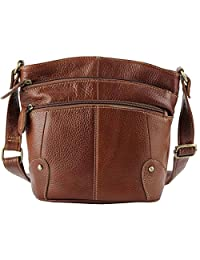 ilishop Women's 2016 Genuine Leather Vintage Simple OL Shoulder Bag Satchel Zippered Handbag