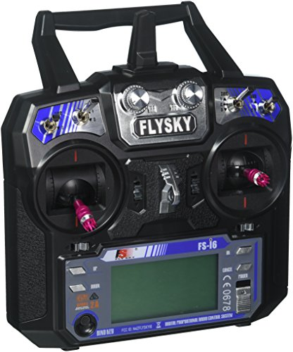 GoolRC Flysky FS-i6 AFHDS 2A 2.4GHz 6CH Radio System Transmitter for RC Helicopter Glider with FS-iA6 Receiver Mode 2 (Ch Plane)