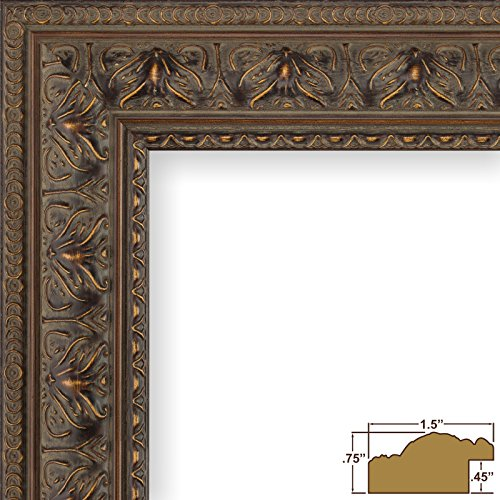 Craig Frames 9535 12 by 16-Inch Picture Frame, Antique Ornate Finish, 1.5-Inch Wide, Aged Mahogany