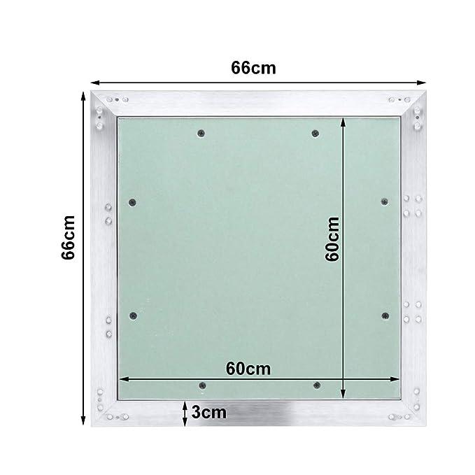 300mm mit 12.5 mm Gipskarton GK-Einlage ABS-Kunststoff mit Gr/ün impr/ägniert f/ür Feuchtr/äume geeignet Hengda Revisionsklappe Aluminium-Rahmen 300