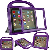 eTopxizu Kids Case with Built-in Screen Protector for iPad 4, iPad 3 & iPad 2, Shockproof Convertible Handle Stand Case Cover for iPad 2nd 3rd 4th Generation - Purple