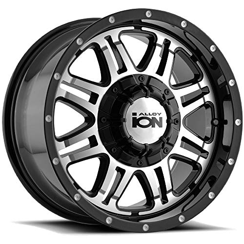 Ion Alloy Style 186 Black Wheel with Machined Face (16x8