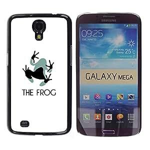 iKiki Tech / Estuche rígido - Feet Small Grey Black Animal Art - Samsung Galaxy Mega 6.3 I9200 SGH-i527