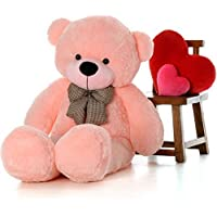 GVMC Medium Very Soft 3 Feet Lovable/Huggable Teddy Bear with Neck Bow for Girlfriend/Birthday Gift/Boy/Girl (91 cm,Pink)