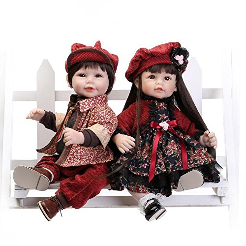 Nicery Schönes Spielzeug Puppe Mit Hohem Vinyl 20inch 50cm Naturgetreue Spielzeug Bunten Hut Blumen Kleid Jungen Und Mädchen Reborn Doll A3DE