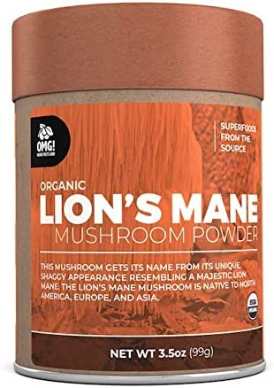 OMG Superfoods Organic Lion s Mane Mushroom Powder – 100 Pure, USDA Certified Organic Lion s Mane Mushroom Powder 3.5oz