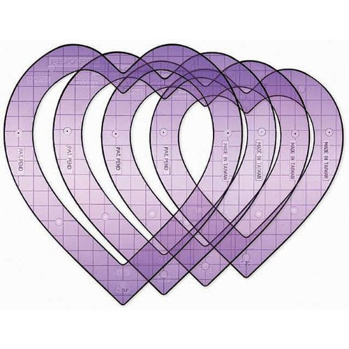 Fiskars Super Size 5 Inch by 9 Inch ShapeTemplates 4/Package, Hearts