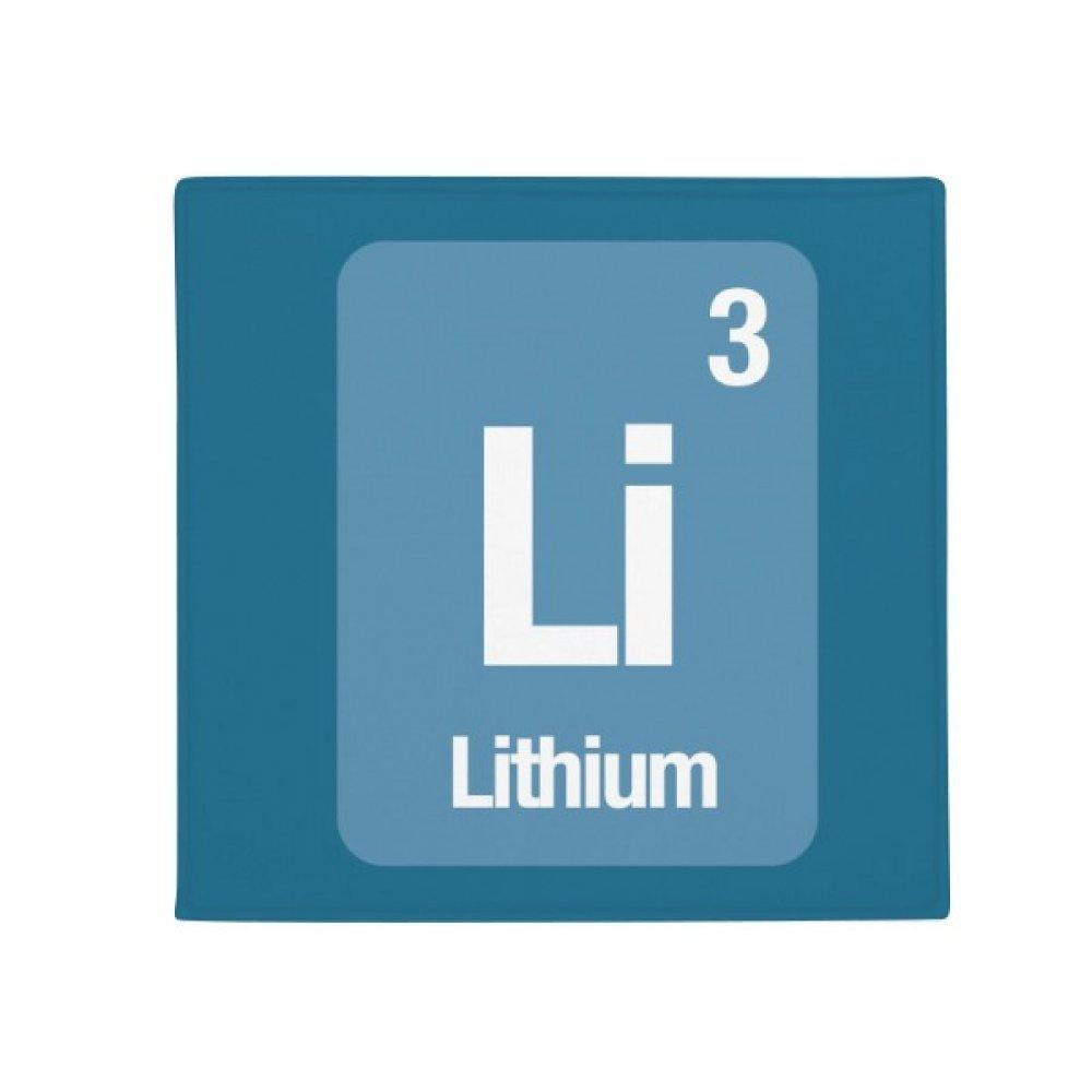 DIYthinker Li Lithium Chemical Element Science Anti-Slip Floor Pet Mat Square Home Kitchen Door 80Cm Gift
