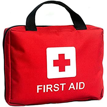 Deluxe All-Purpose First Aid Kit – 210 Pieces – Lightweight Red Fabric Case with Zipper – Easily Portable for Home, Travel, Car, Outdoors, Survival or Emergency and Medical Preparedness