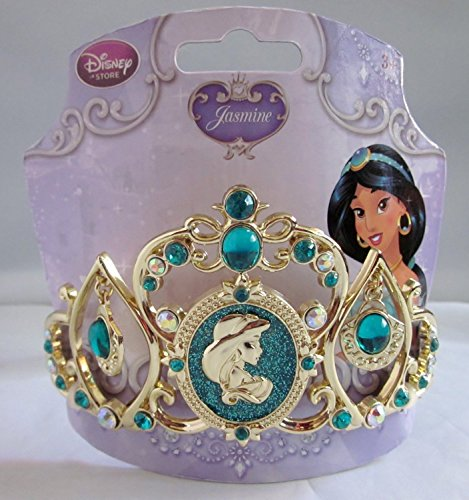 [Disney Store Princess Jasmine Turquoise Jeweled Tiara] (Princess Jasmine Costumes Tiara)