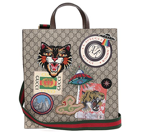 Wiberlux-Gucci-Unisex-Multiple-Patch-Detail-Striped-Strap-Tote-Bag